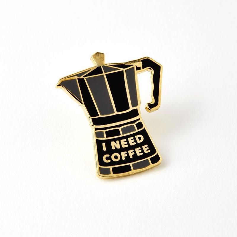 COFFEE POT ENAMELED PIN BADGE/ Chase & Wonder   エナメル ピンバッチ