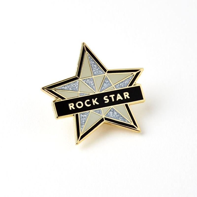 ROCK STAR ENAMELED PIN BADGE/  エナメル ピンバッチ