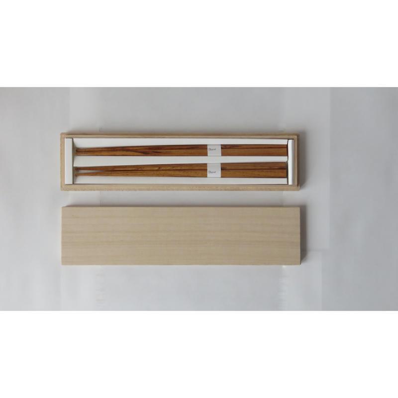三角箸 栗 桐箱gift box