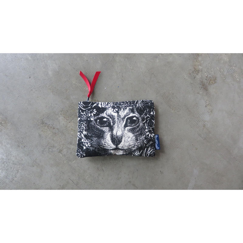 Chase and Wonder FLOWER CAT  PURSE ミニポーチ