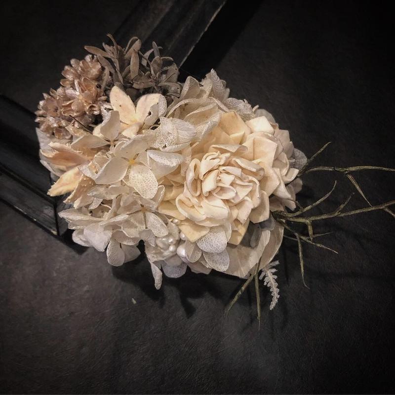 ソラフラワーと木の実のヘッドドレス