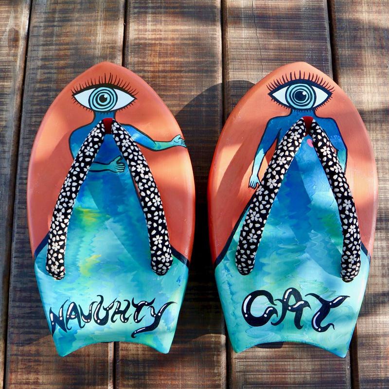 サーフボード型の下駄 SURF