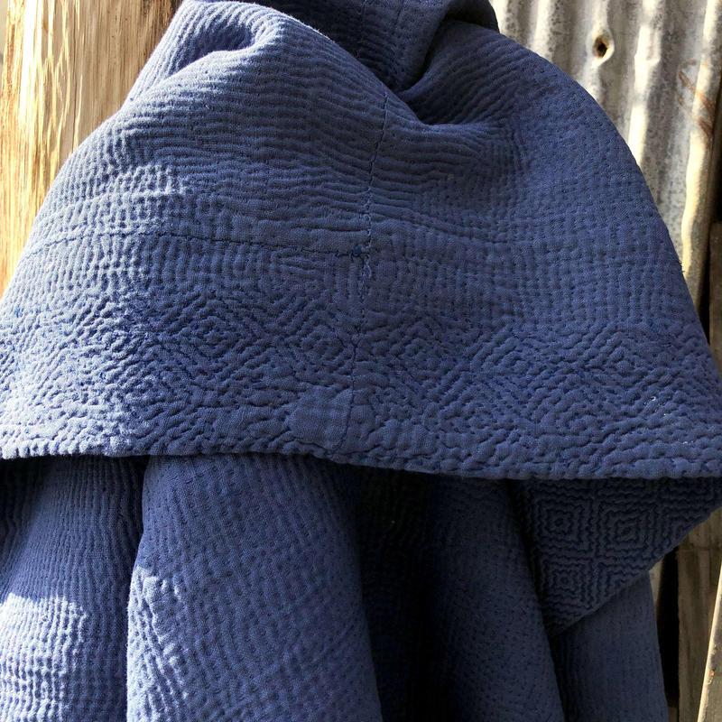 インド カンタキルト ラリーキルト 藍染 インディゴ ボヘミアン EGOTRIP040
