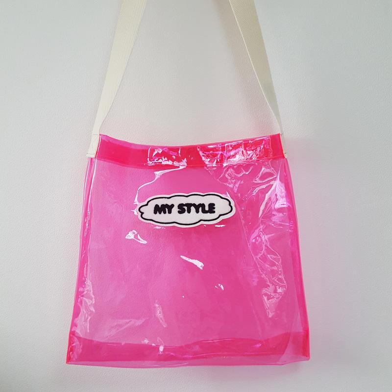 MY STYLE クリアショルダーバッグ(おとな)PINK