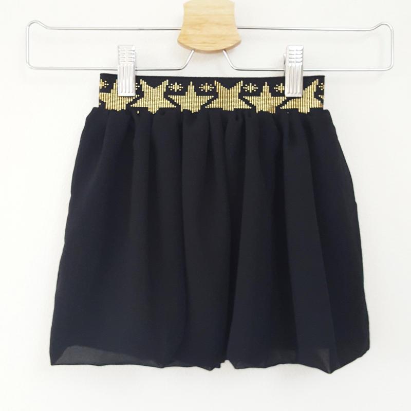 シフォンバルーンスカート(こども)BLACK