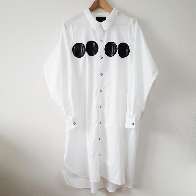ドットロングシャツ(おとな)WHITE