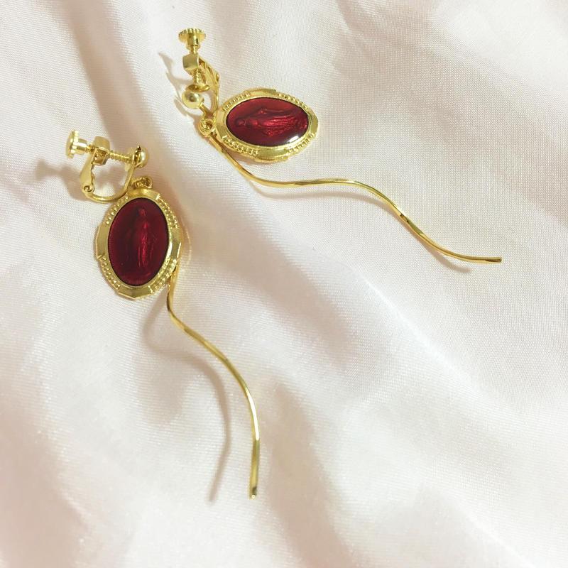 handmade christ charm earrings