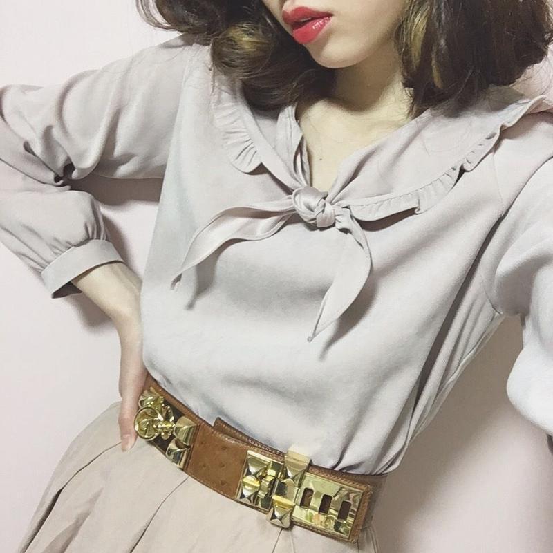 vintage HERMES collier chien belt brown