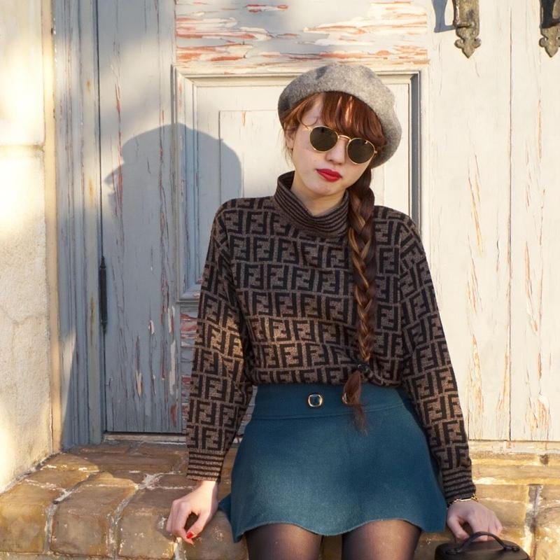 vintage FENDI pattern knit