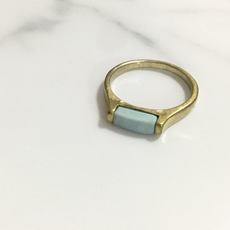 vintage  candy blue stone ring