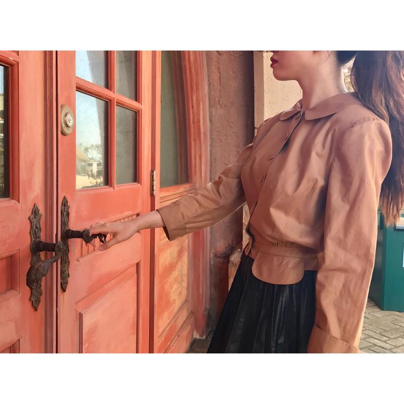 vintage round collar blouse