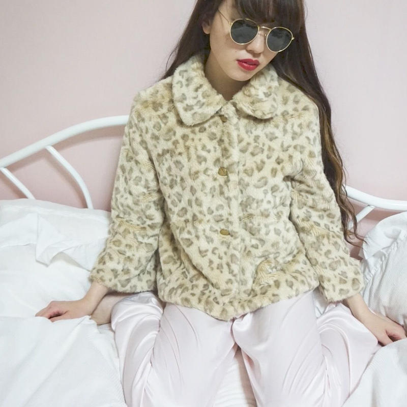select leopard fur jacket