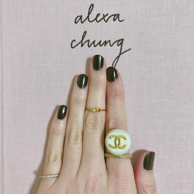 handmade vintage  CHANEL button remake ring