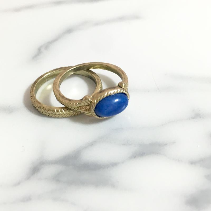 vintage stone  rings