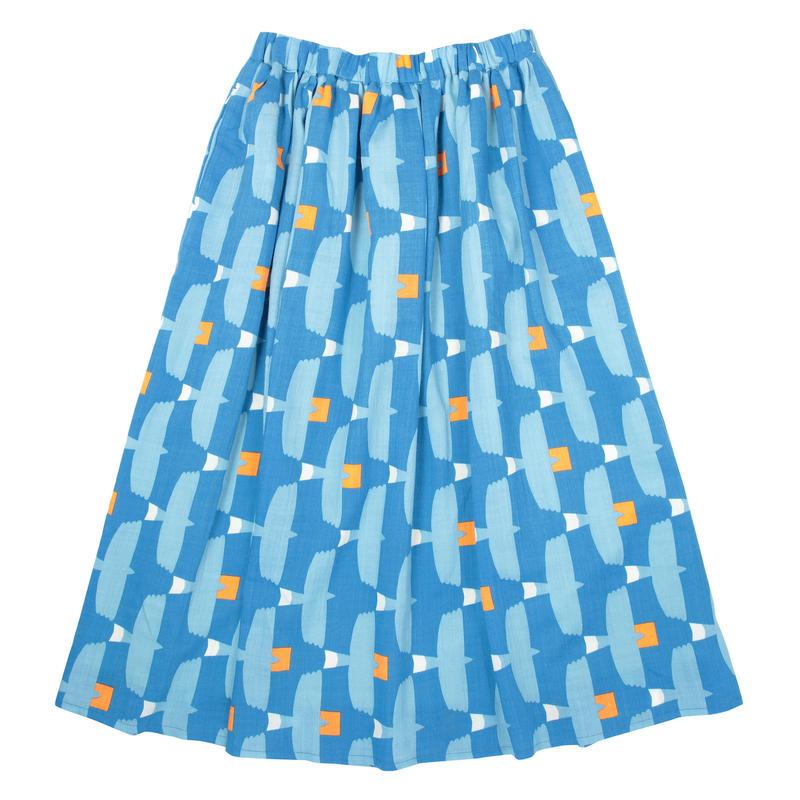 ロングスカート とんびに油揚げ(青)