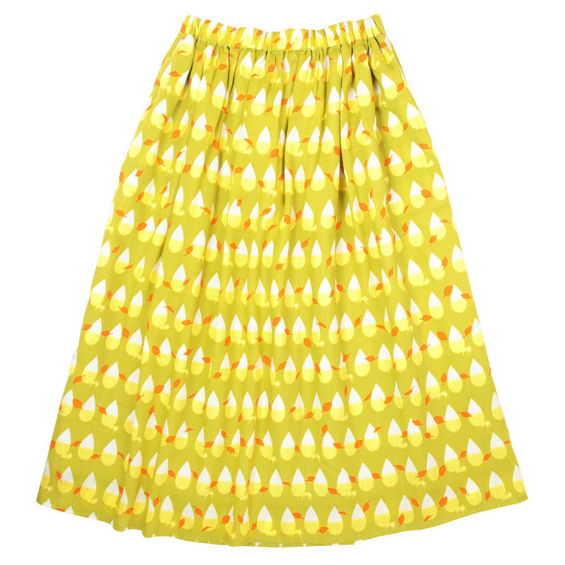 ロングスカート きつねの尻尾(黄)