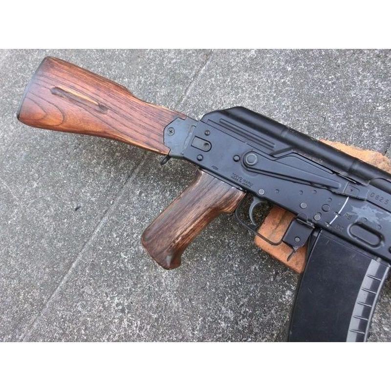 受注 次世代AKS74シリーズ用ノーマルウッドグリップ製作