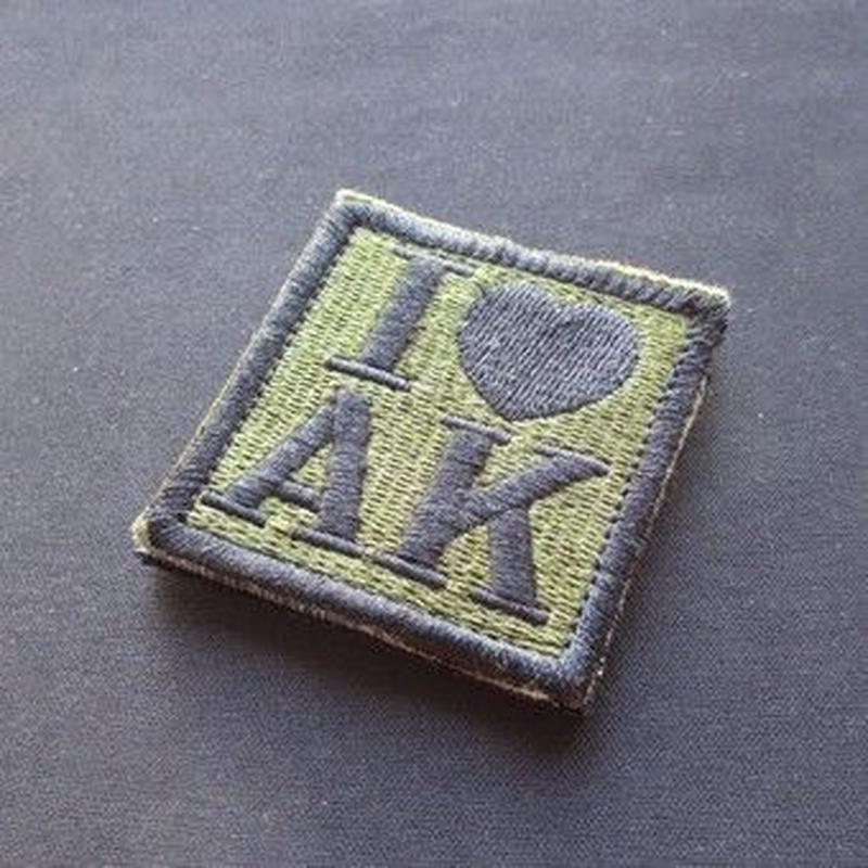 I LOVE AK ベルクロワッペン