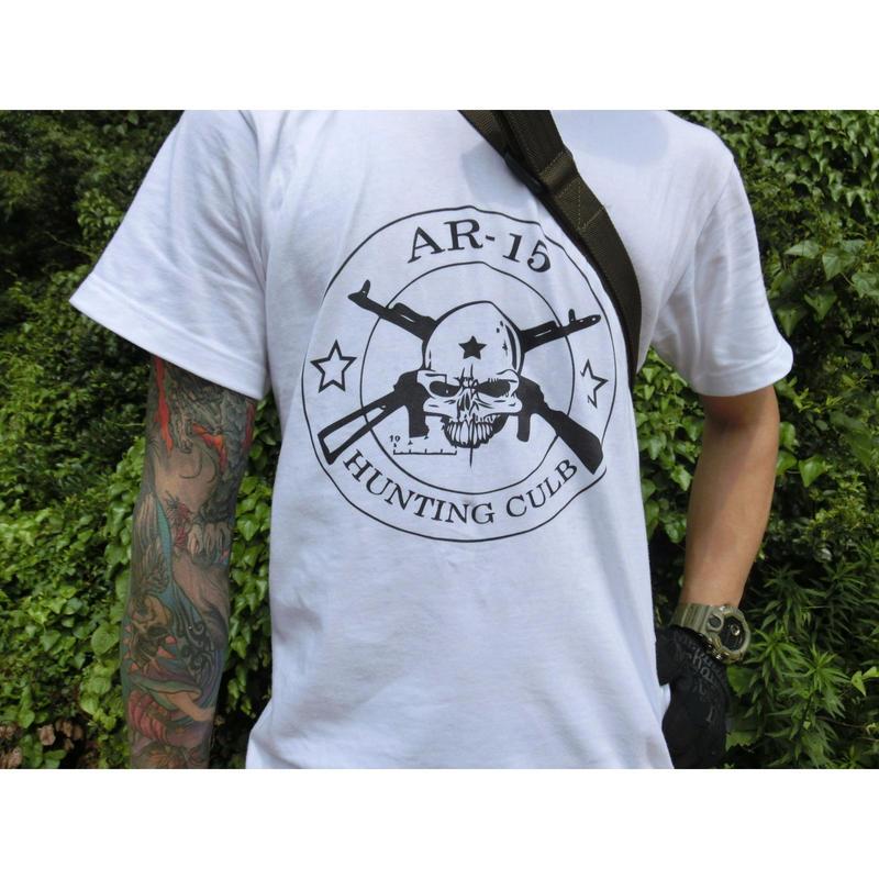 AR15 HUNTING CLUB Tシャツ 白