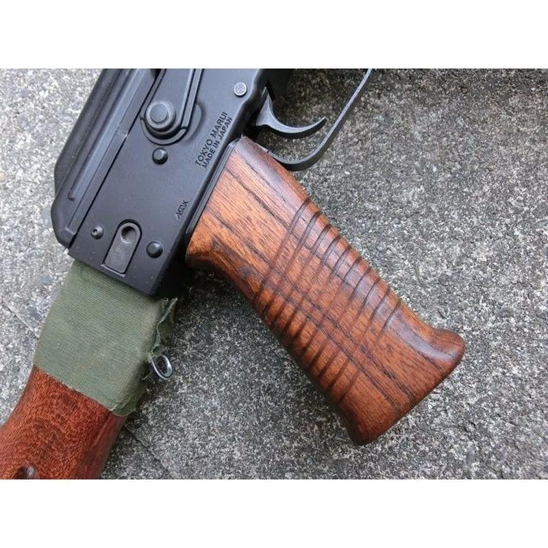 受注 次世代AKS74シリーズ用 SAWタイプウッドグリップ製作