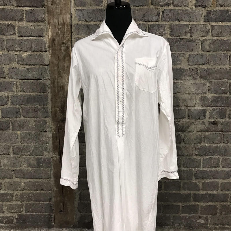 mid 20th c. french cotton long shirt
