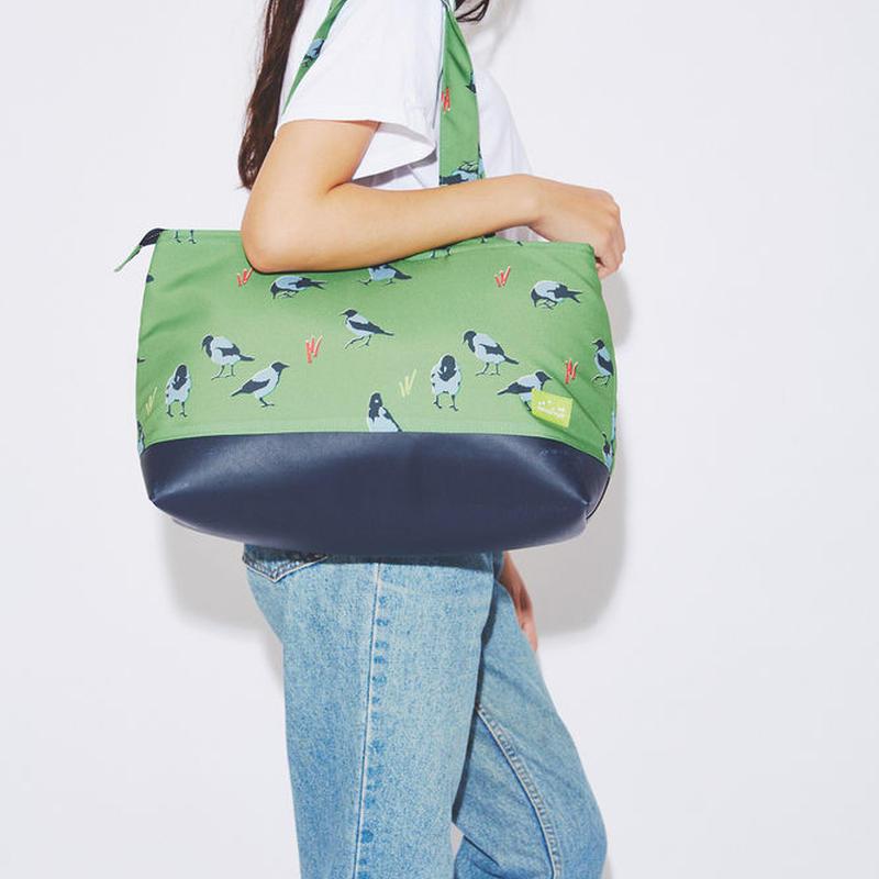 Graycrow cushion tote bag(Green)