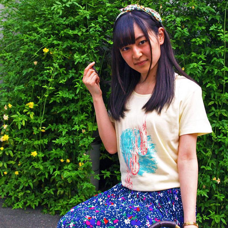 【在庫限り】海老とレタスのTシャツ Baby Yellow ベビーイエロー