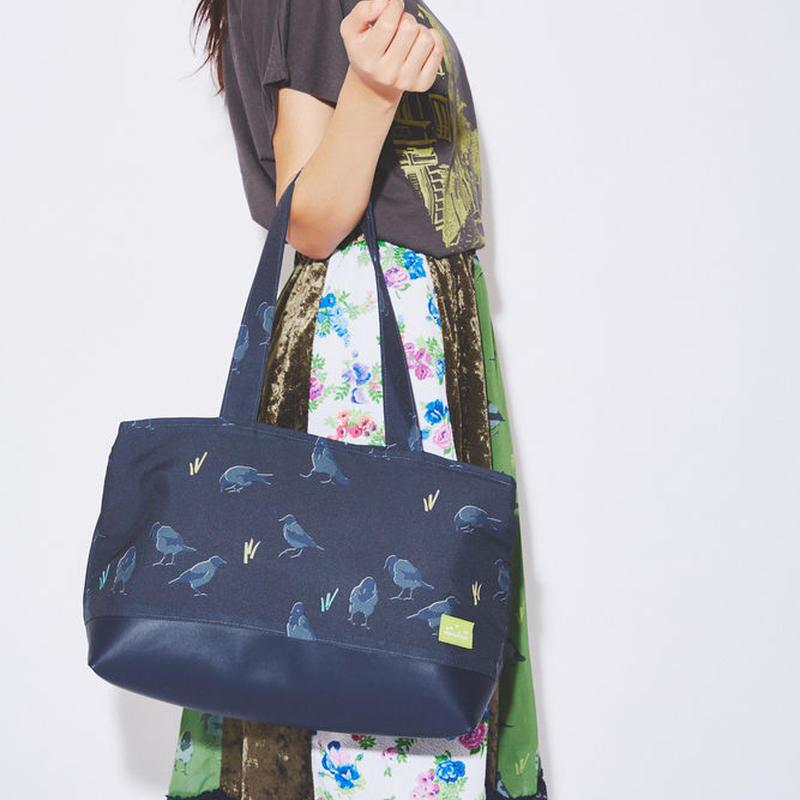 Graycrow cushion tote bag(Black)