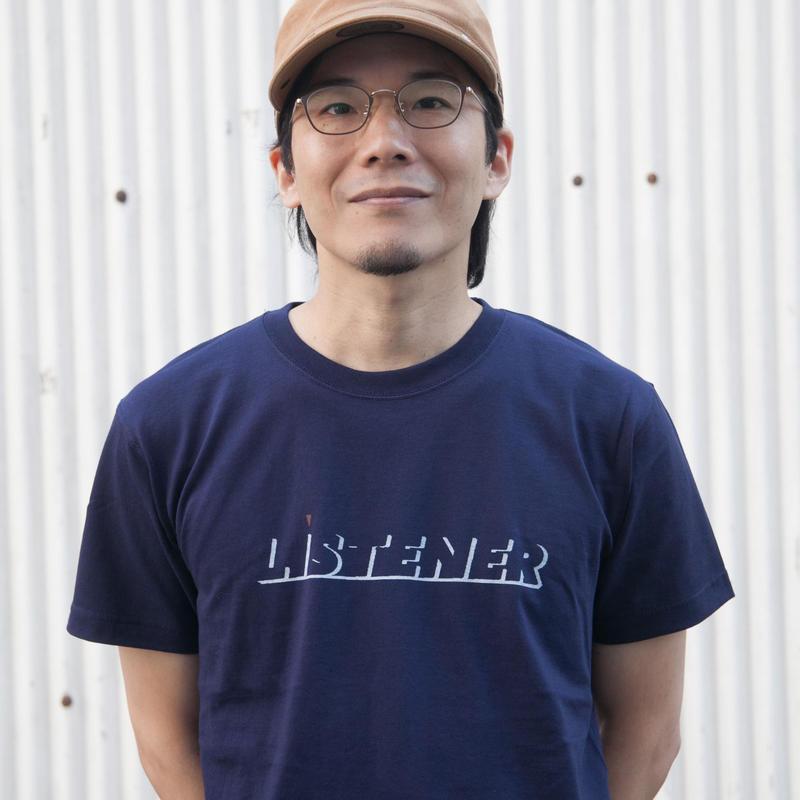ヘビーリスナーTシャツ ネイビーUNISEX XS〜XXL