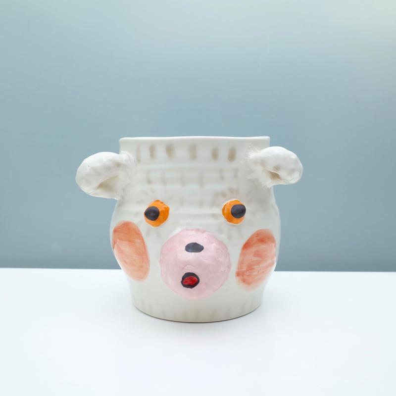 hikari masuda | くまの顔花器