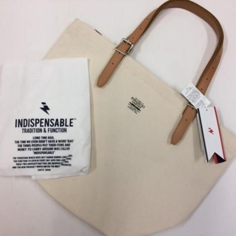 【INDISPENSABLE】倉敷帆布 トートバッグ オフホワイト