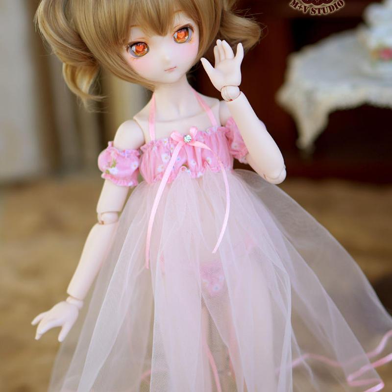 MDD ドール Dollfie Dream ネグりジェワンピース(ピンク)