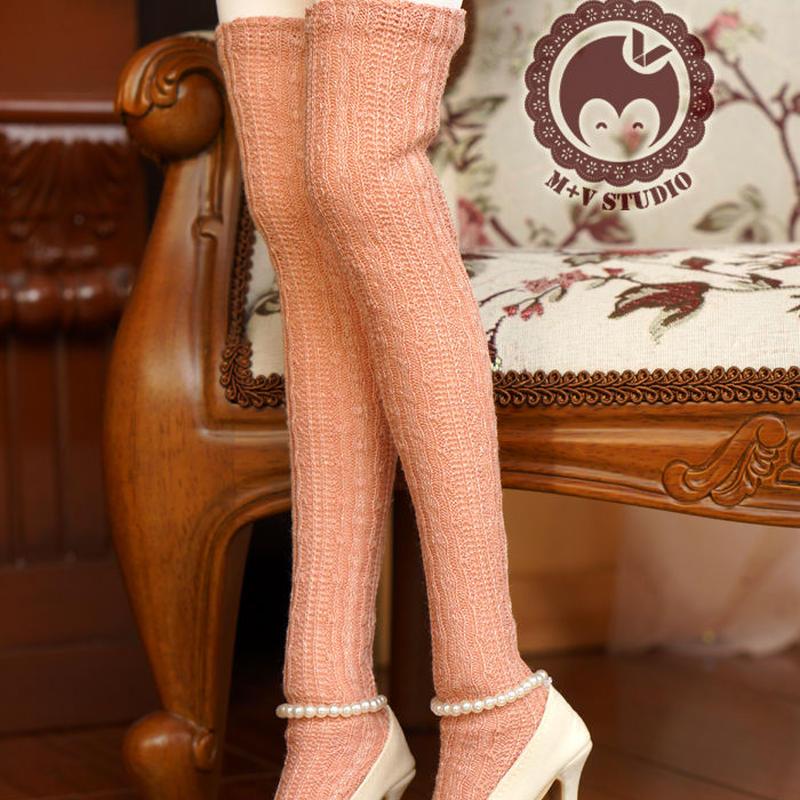 MDD,MSDサイズ ミニドルフィードリーム靴下 ロングソックス(オレンジ)