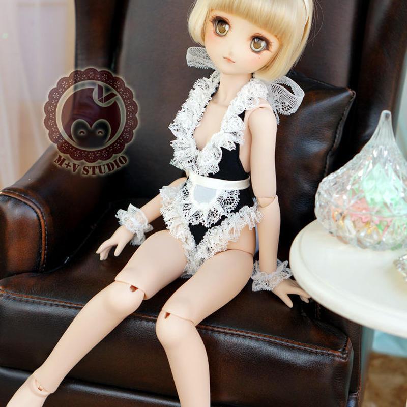 MDD 洋服 ミニドルフィードリームサイズ メイドセット(ブラック)