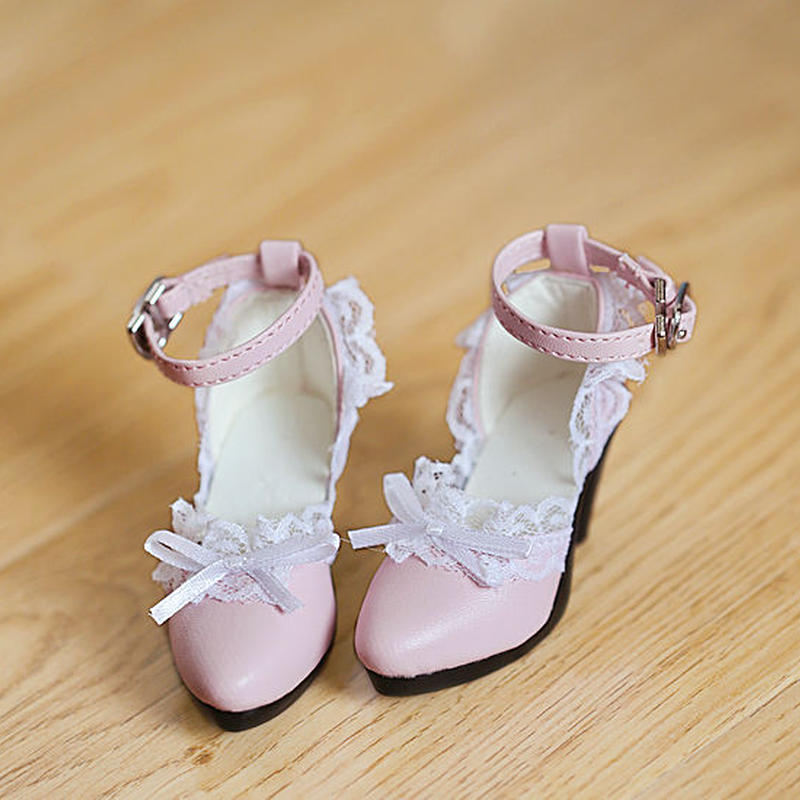 DDサイズ ドール靴 ドルフィードリーム レース シューズ ピンク