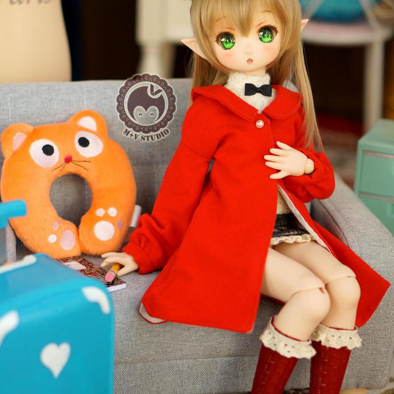 MDD ドール Mini Dollfie Dream  お出かけ コーデセット(レッド)