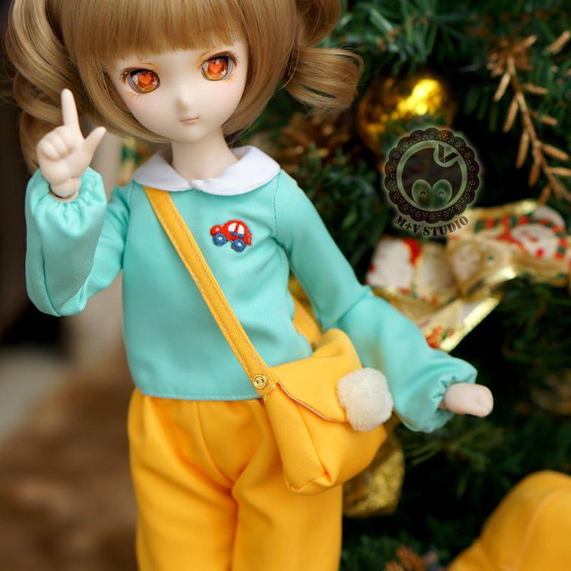 MDD,MSD ミニドルフィードリーム男の子 幼稚園 制服セット(黄色ズボン)