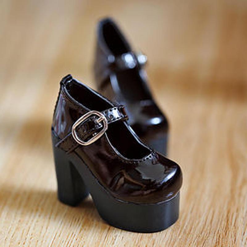 MDD ドール靴 ミニドルフィードリーム 厚底 ヒールパンプス(ブラウン)