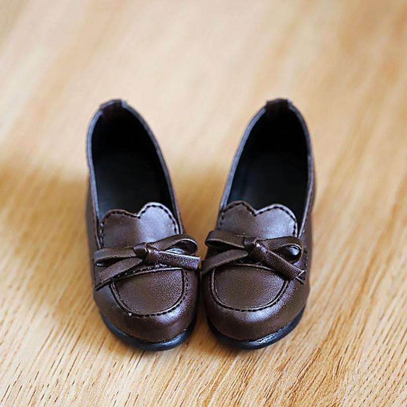 MDDサイズ 靴 ミニドルフィードリーム 制服用 ローファー シューズ(ブラウン)