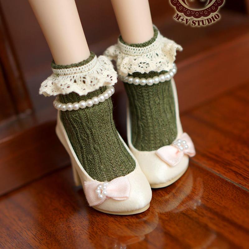 MDD,MSD ドルフィードリーム靴下 フリルソックス(グリーン)