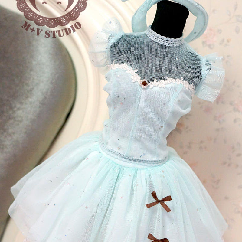 DDL,DY 1/3サイズ ドルフィードリーム洋服 マカロンドレス(ブルー)
