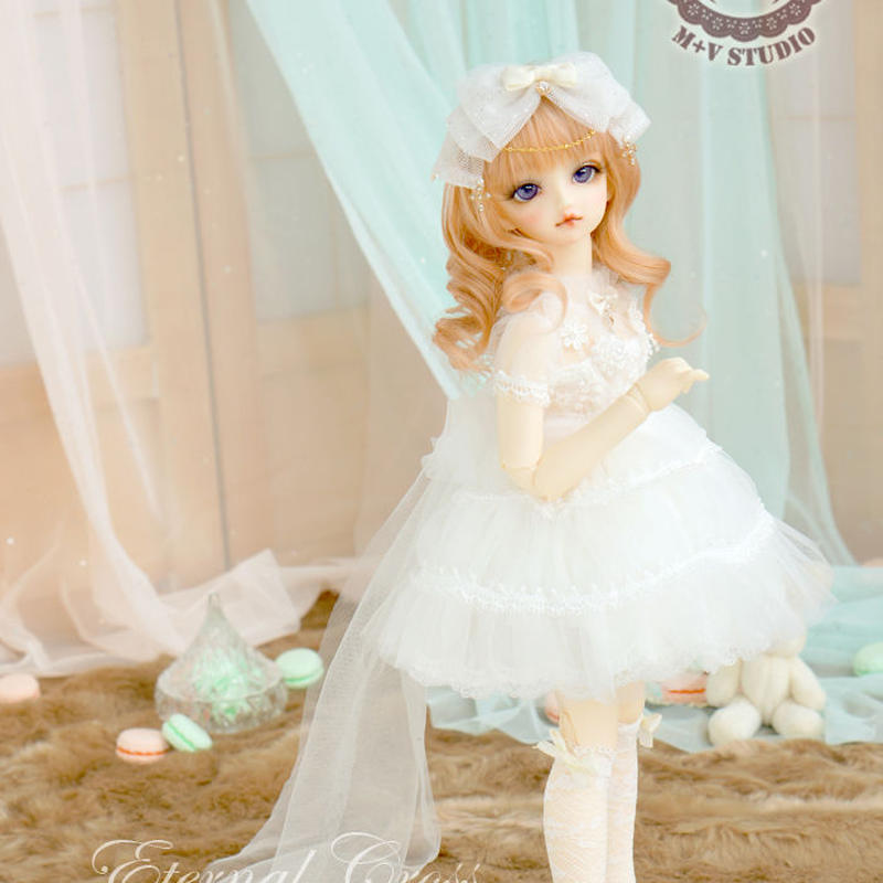 MDD,MSD ミニドルフィードリーム洋服 ウエディングドレス(ホワイト)