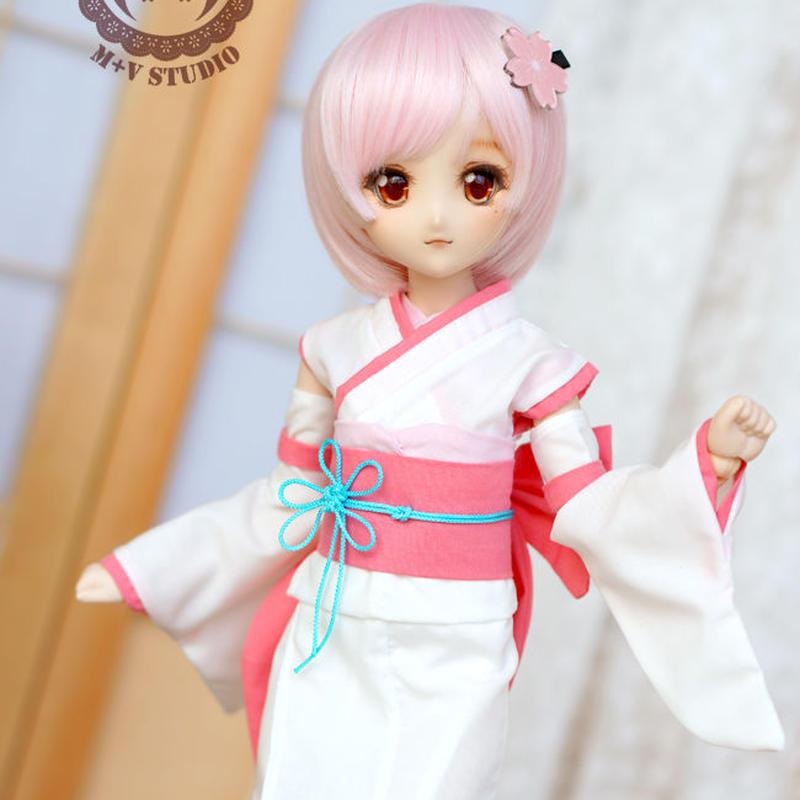 MDD MSD ドール服 ミニドルフィードリーム コスプレ衣装(ピンク)