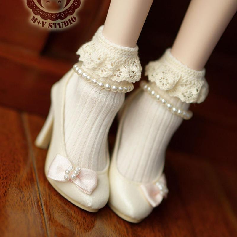 MDD,MSDサイズ ドルフィードリーム靴下 フリルソックス