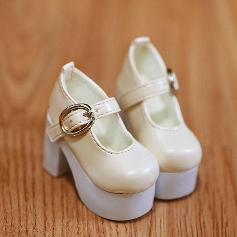 MDD ドール靴 ミニドルフィードリーム 厚底 ヒールパンプス(クリーム)