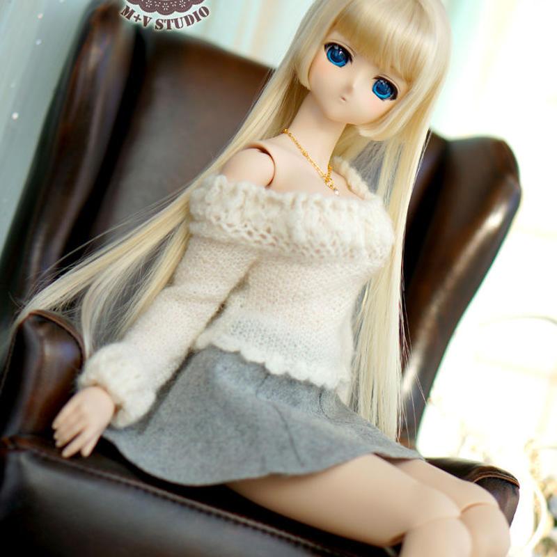 DD,SD ドルフィードリーム服 ミニスカート女の子洋服セット