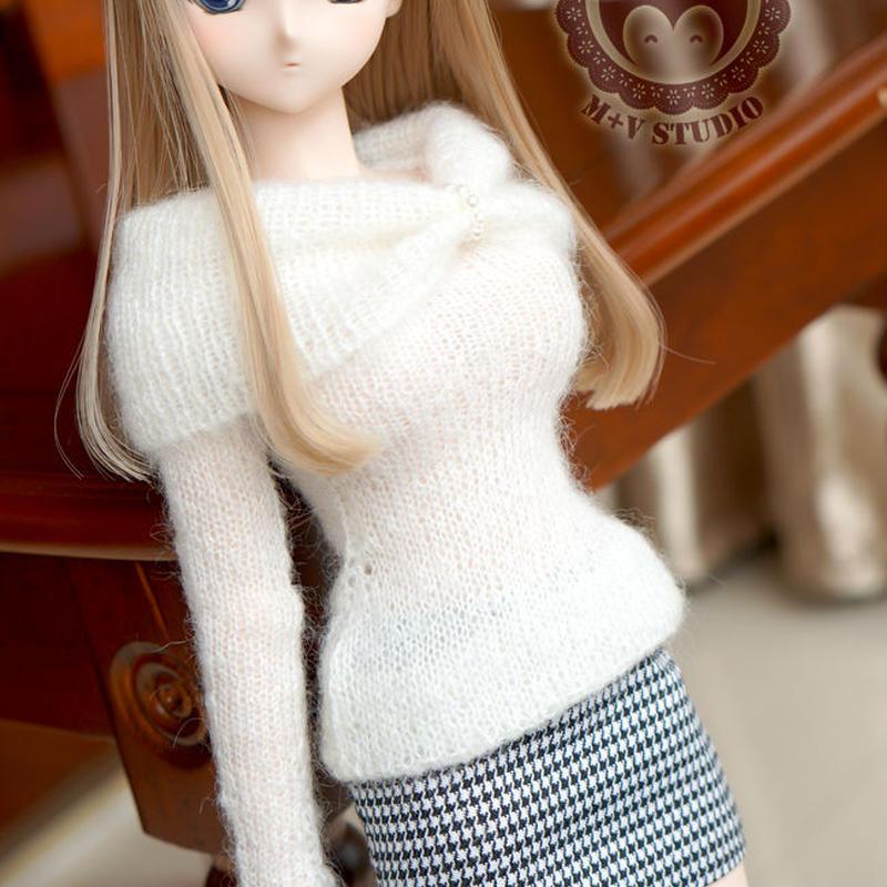 DD ドルフィードリーム 洋服 タイトスカート、セーターセット(ブラック)