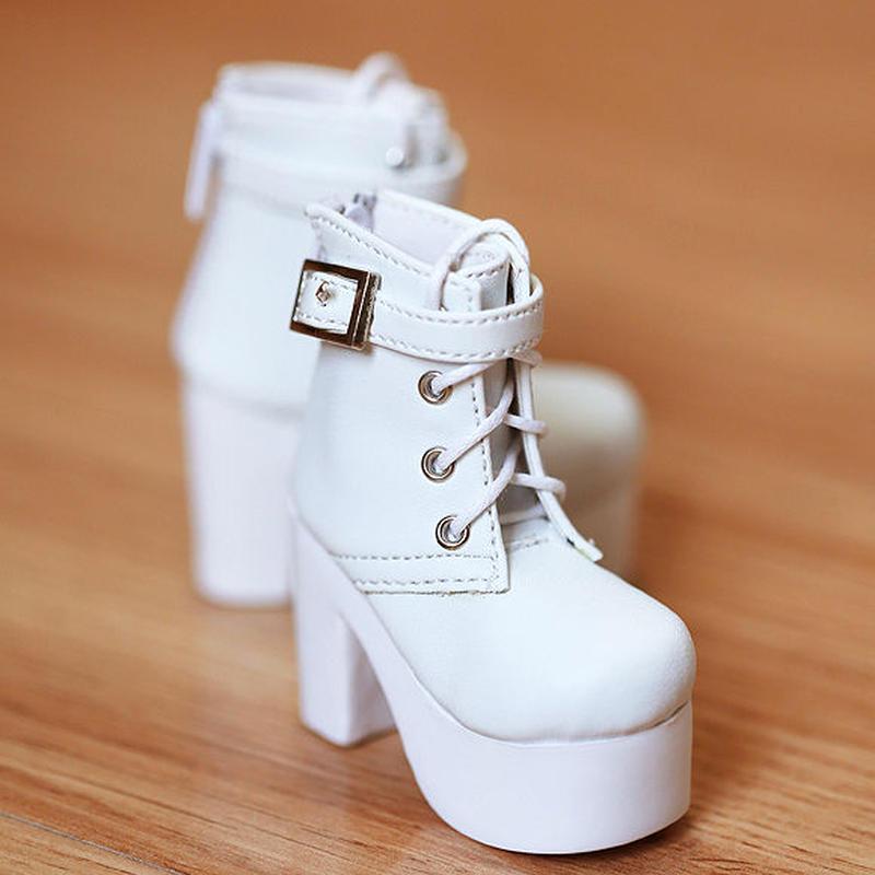 DD,DDS,DDDY,SD ドルフィードリーム 靴 ショートブーツ(ホワイト)