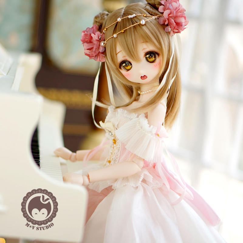 MDDミニドルフィードリーム 洋服 プリンセス お花のドレスセット(ピンク)