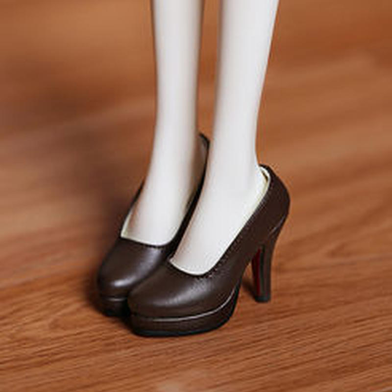 DD,DDS,DDDY,SD ドルフィードリーム靴 シンプルパンプス(ブラウン)
